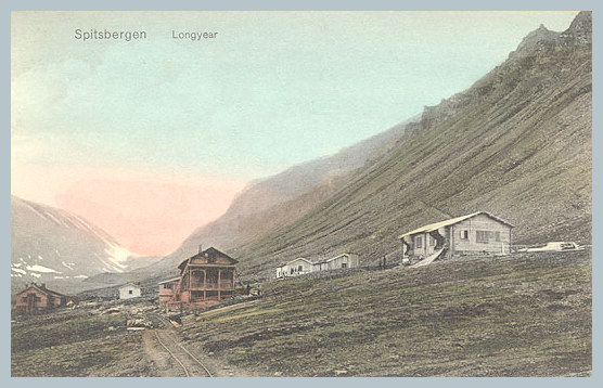 Longyear City c1910s postcard