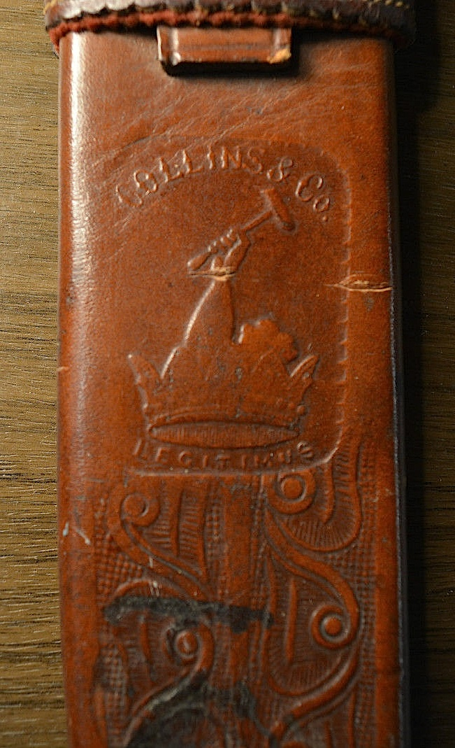 What Is Leather Made Of >> Collins No 17 bowie knife in No 10 sheath - for Abercrombie & Fitch